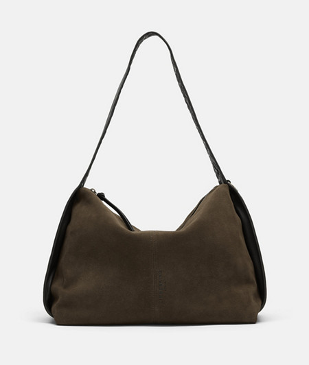 Suede bag with indirect embossed logo from liebeskind