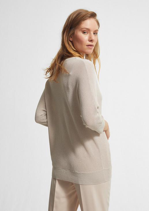 Pullover mit Glitzergarn