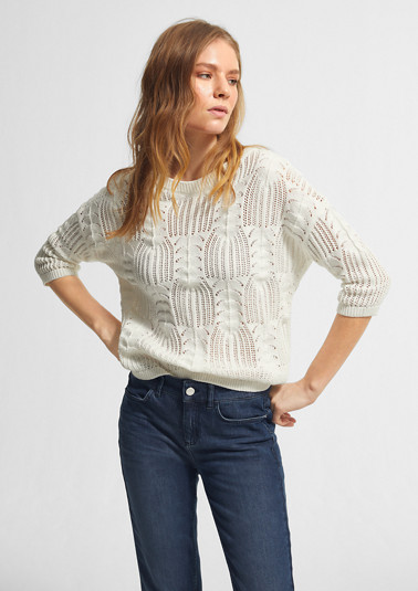 Jumper with an openwork pattern from comma