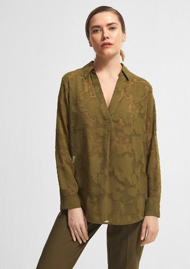 Floral gemusterte Oversize-Bluse