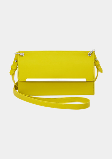 Clutch with a detachable strap from comma