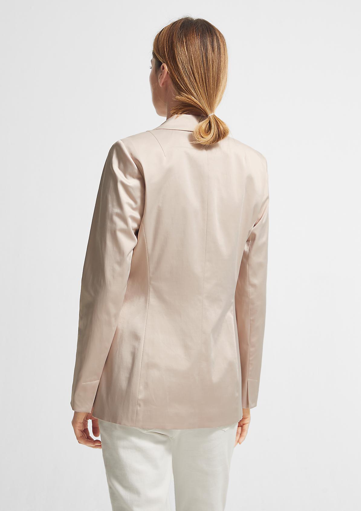Stretch-Blazer aus Baumwollmix