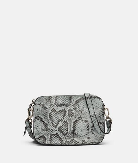 Petit sac bandoulière d'aspect peau de serpent de liebeskind