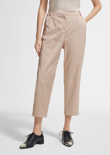 Regular Fit: trousers made of satin from comma