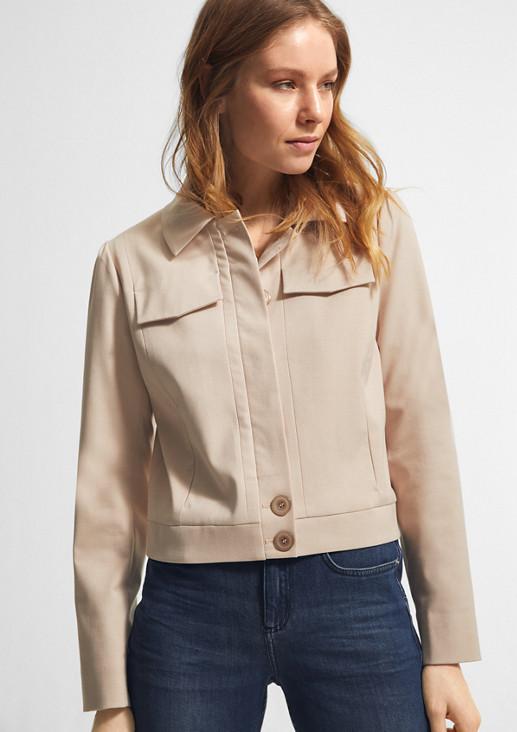 Leichte Jacke mit verdeckten Knöpfen