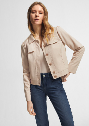 Lightweight jacket with concealed buttons from comma