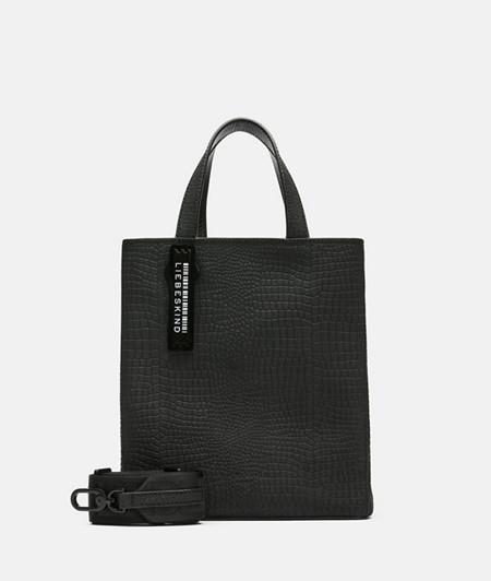 Handtasche aus Leder mit Reptilhautprägung