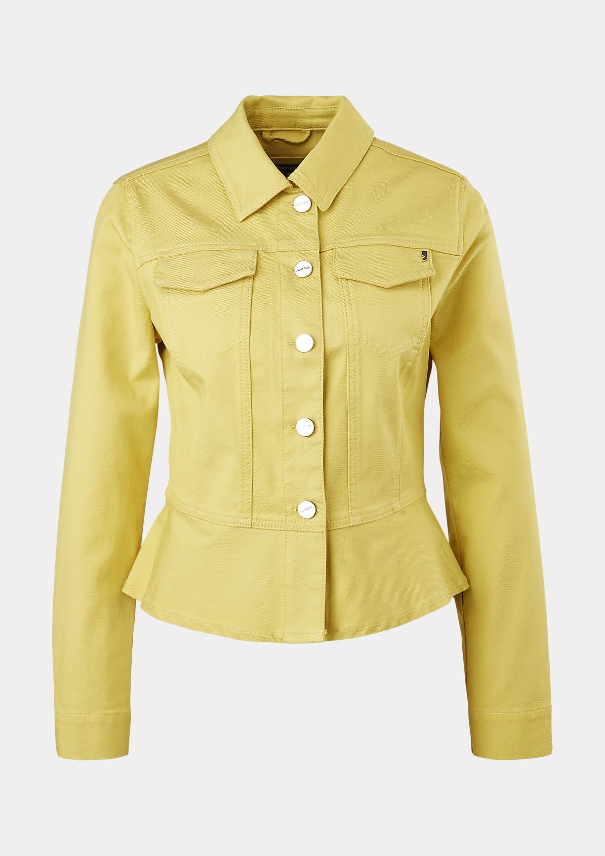 Colored Denim-Jacke aus Lyocellmix