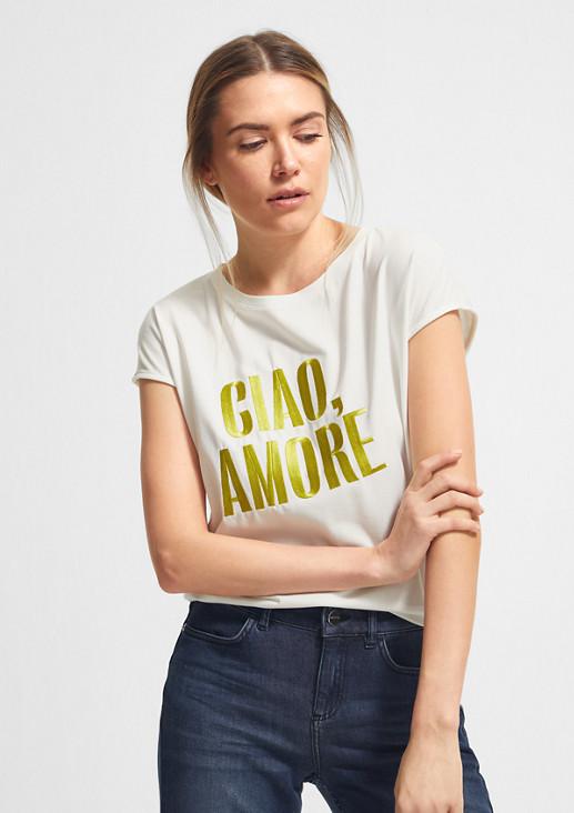 T-Shirt aus hochwertigem Modalmix