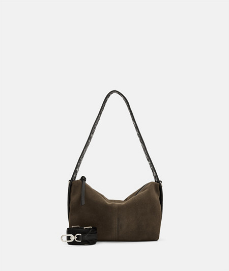 Leather shoulder bag made of smooth leather and suede from liebeskind