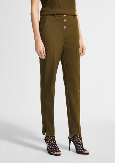 Chinos with horn-look buttons from comma