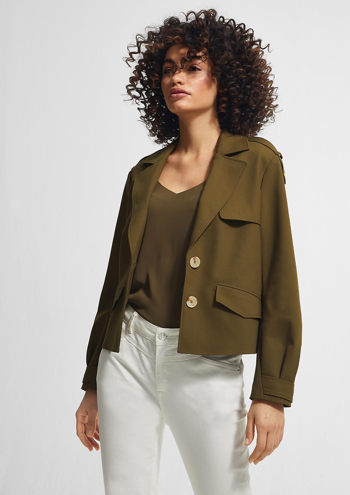Trench-Jacke mit weiten Ärmeln