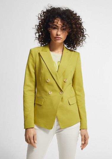 Blended cotton blazer from comma