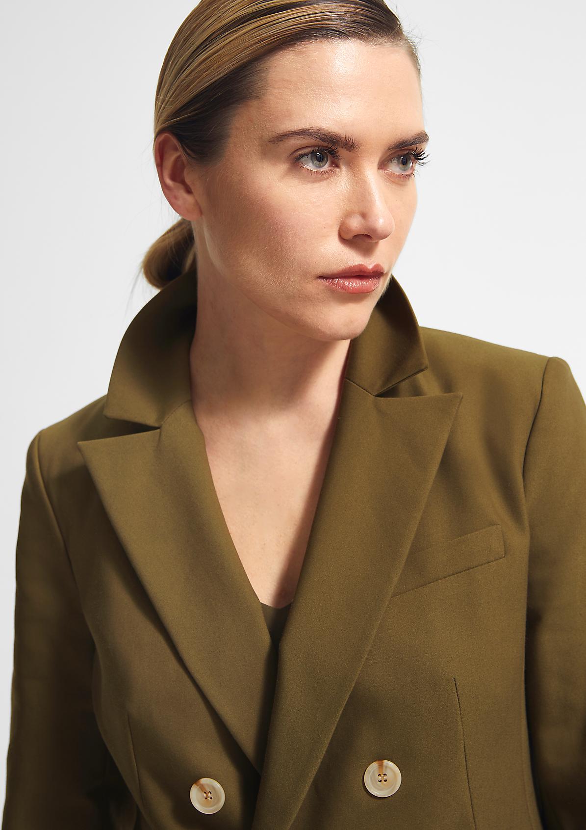 Blazer aus Baumwollmix