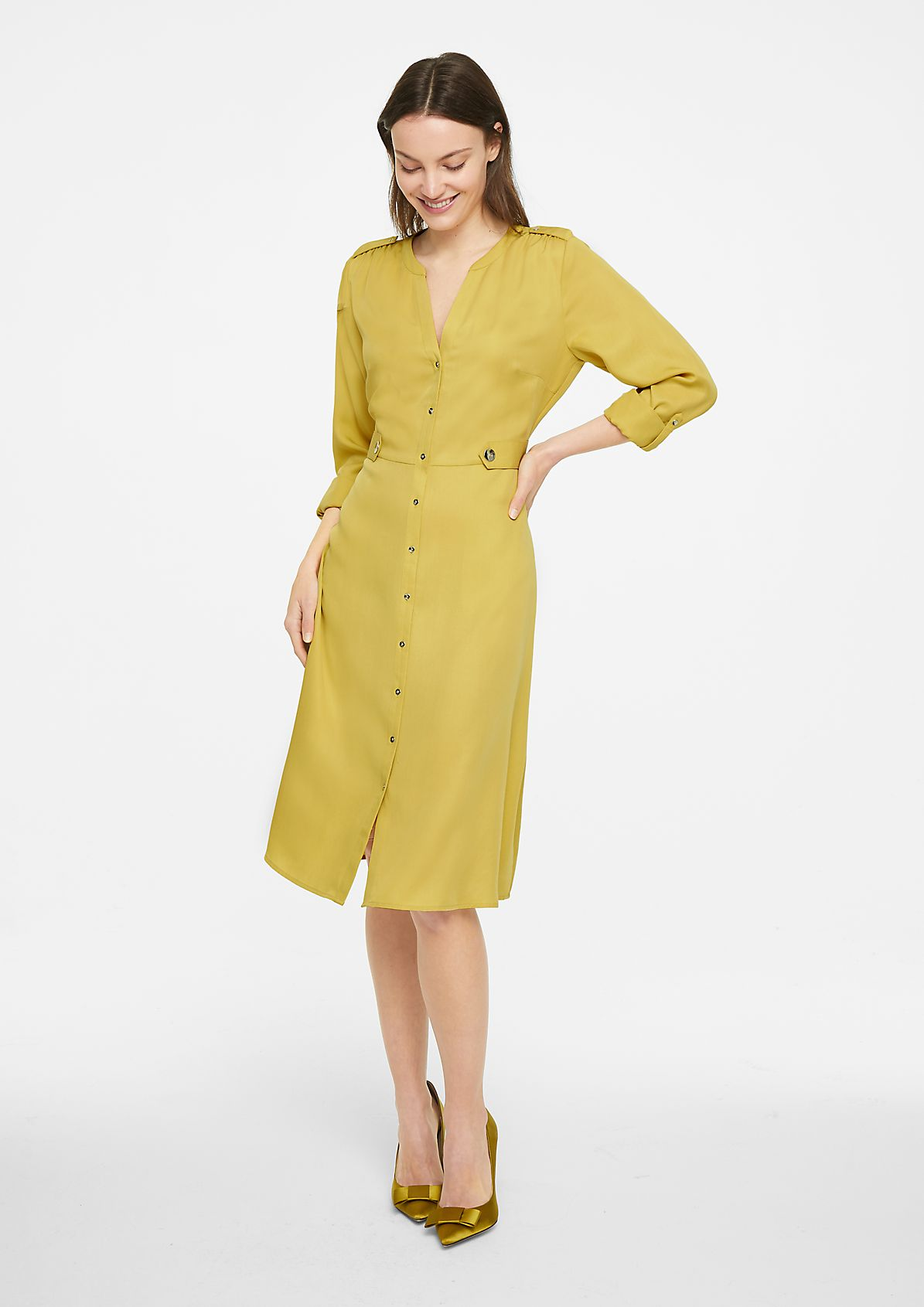 Fitted lyocell dress from comma