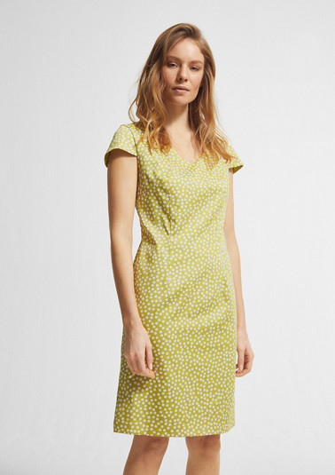 Floral dress with a bateau neckline from comma