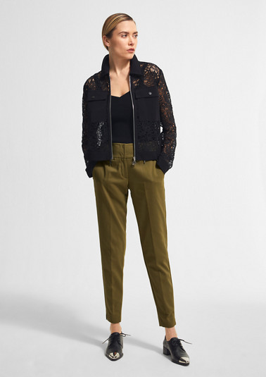 Slim fit: slim leg trousers from comma
