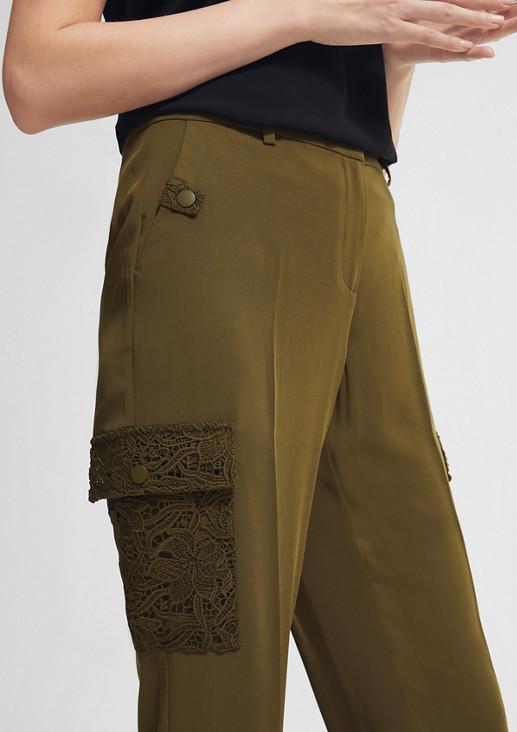 Regular: Hose mit Spitzen-Details