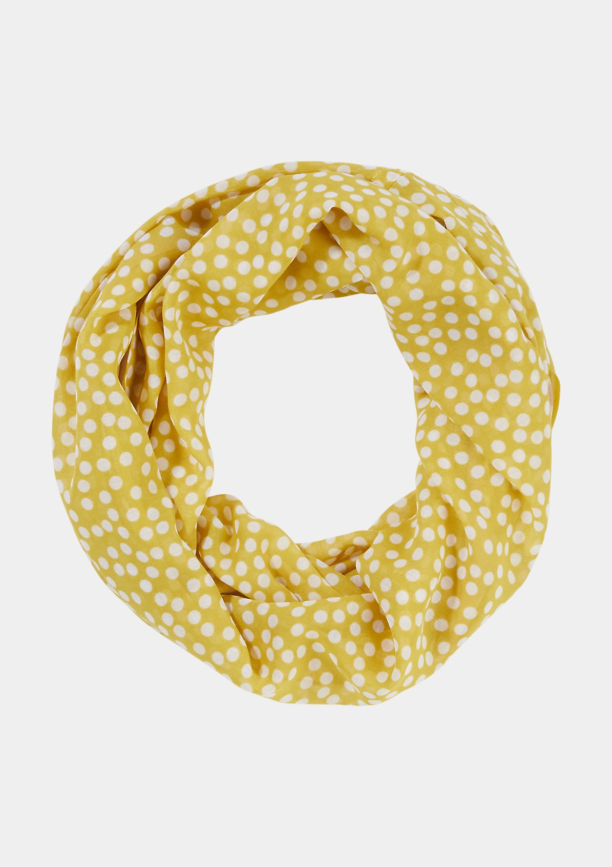 Print snood with a chiffon trim from comma