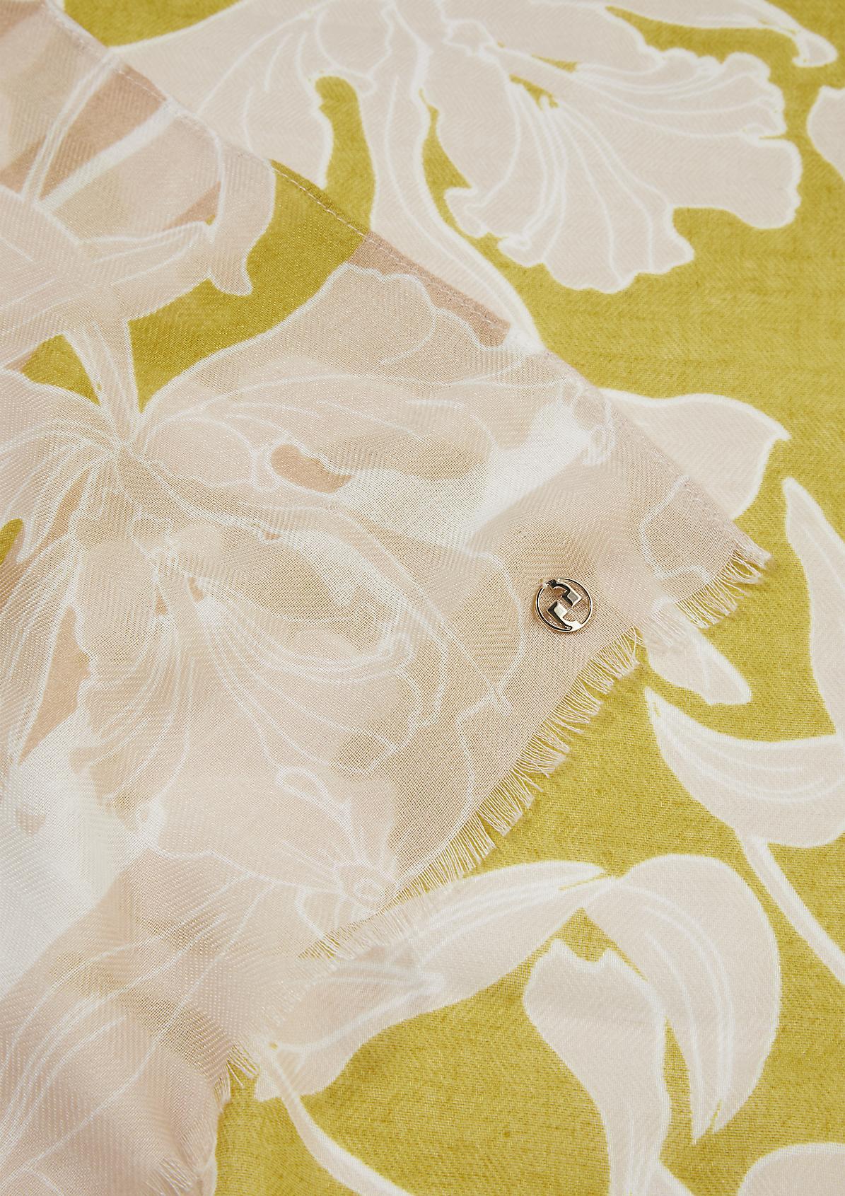 Tuch mit floralem Allover-Print
