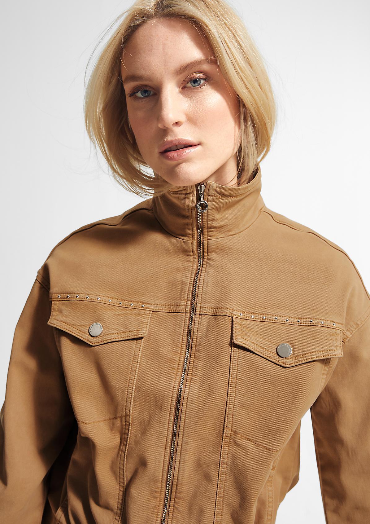 Jacke aus Lyocellmix-Twill