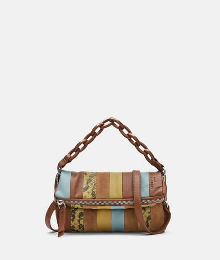 Patchwork Bag aus Wildleder und Glattleder
