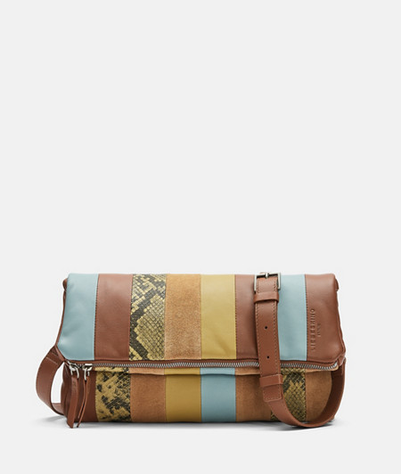 Patchwork Bag mit Schlangenhautoptik