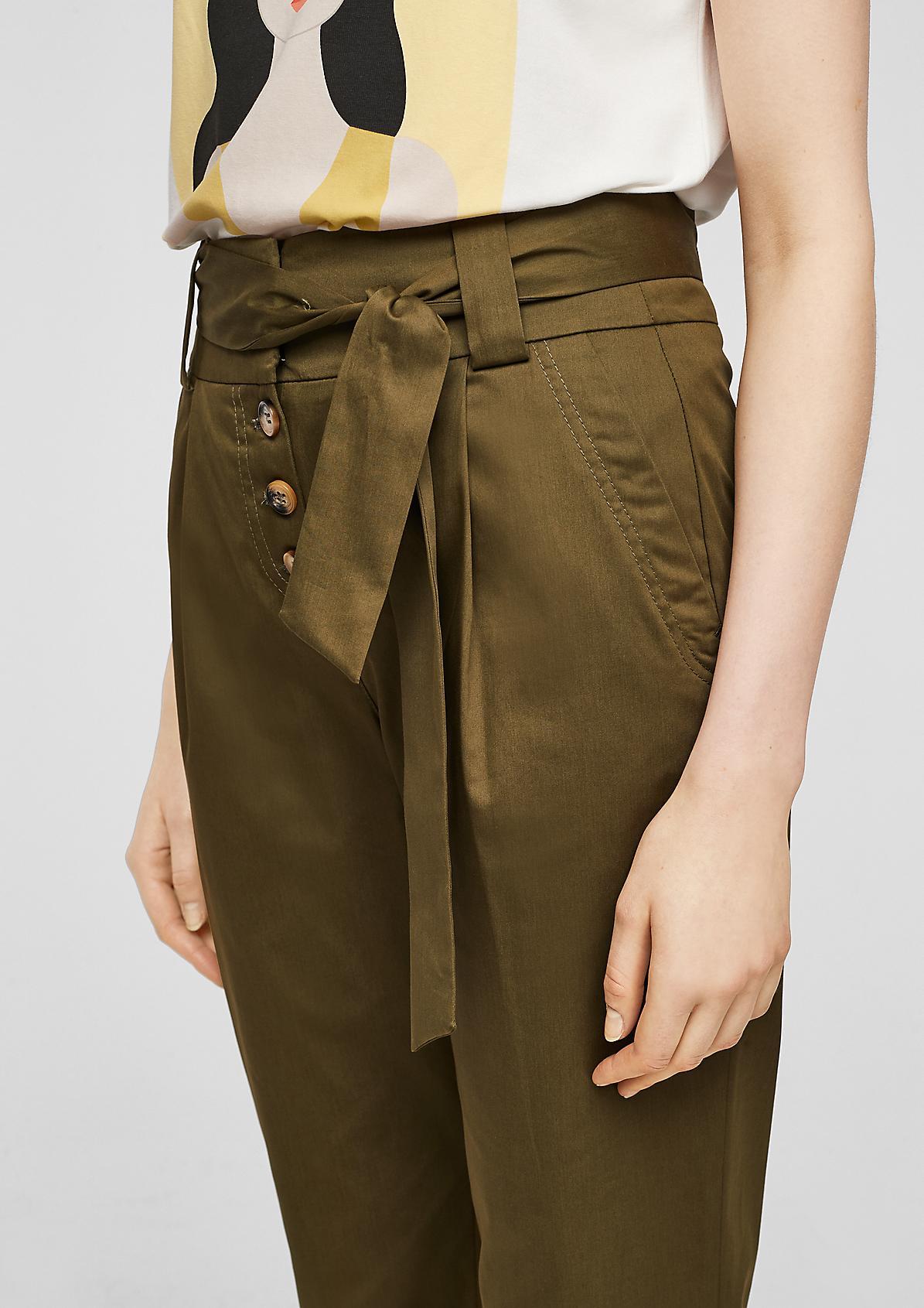 Paperbag-Hose mit Knopfleiste
