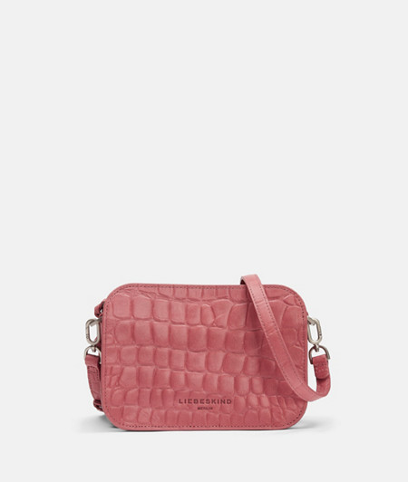 Leather shoulder bag with crocodile embossing from liebeskind
