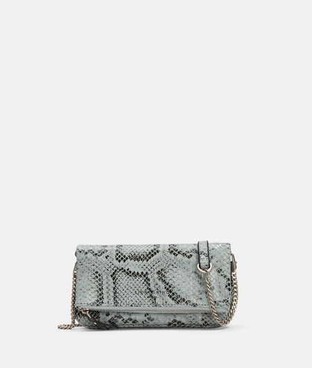 Leather mini clutch with snakeskin finish from liebeskind