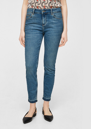 Skinny Fit: stretch jeans with studs from comma