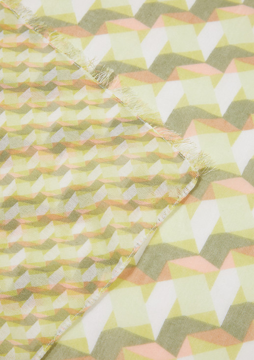 Leichter Schal mit Printmuster