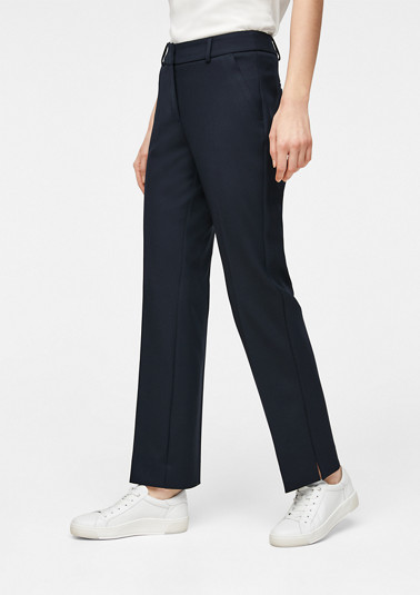 Stretchy trousers with a straight leg from comma