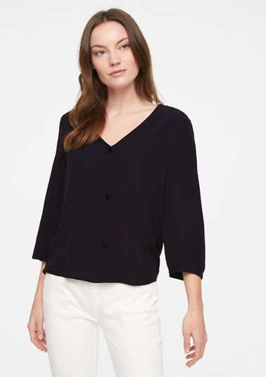 3/4 sleeve blouse with a decorative button placket from comma