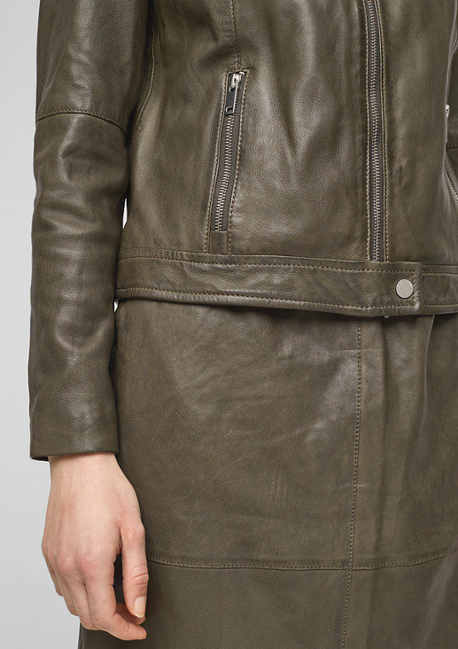 Sportive Jacke aus Nappaleder