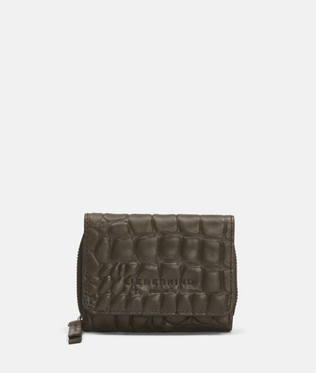 Leather wallet with fine crocodile embossing from liebeskind