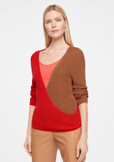 Pullover mit Colour Blocking-Effekt