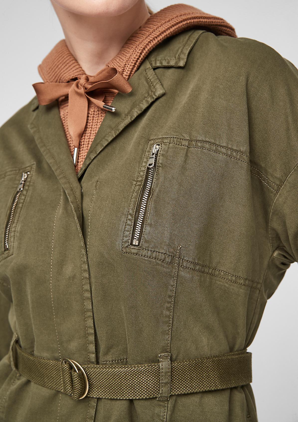 Lässige Jacke mit Gürtel