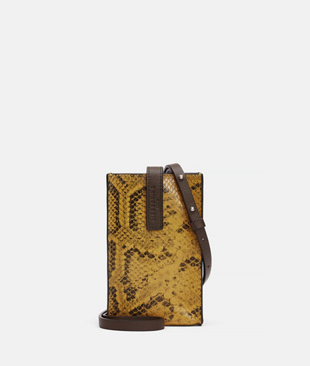 Phone bag in a snakeskin look from liebeskind