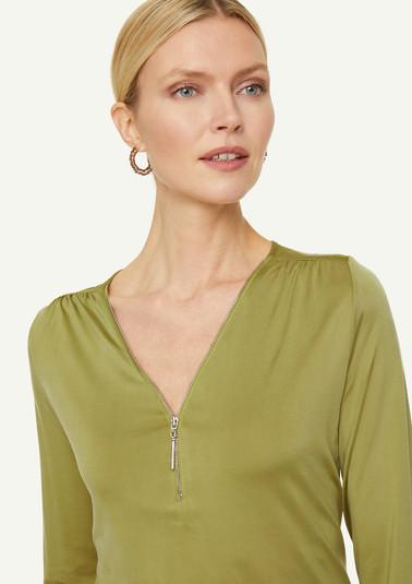 Jerseyshirt mit Reißverschluss
