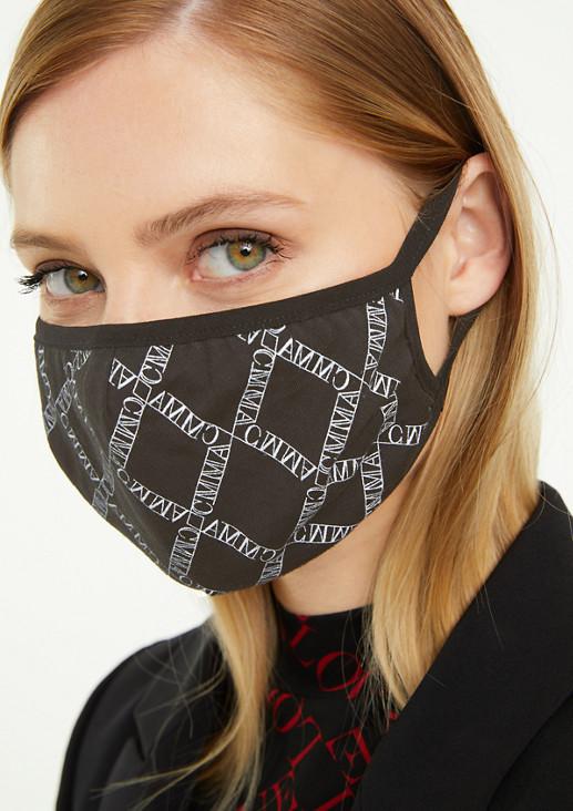 Behelfsmaske mit Printmuster