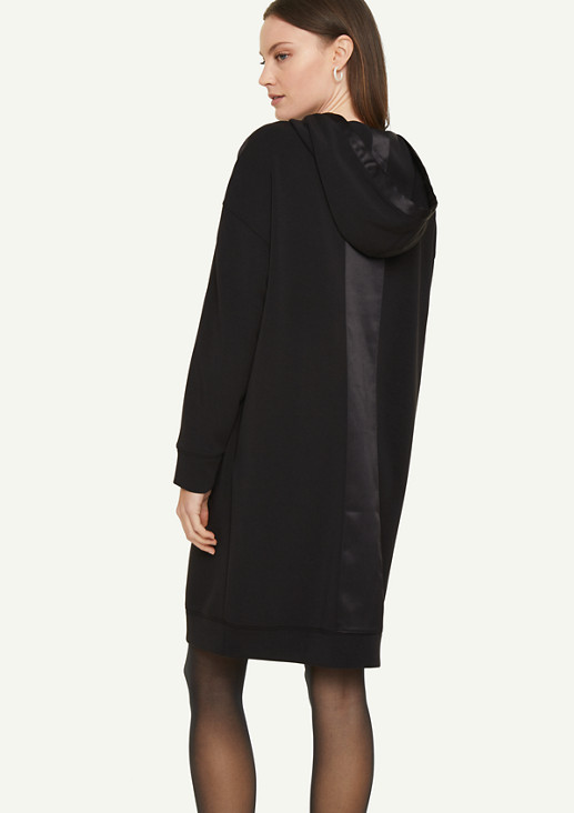 Hooded dress with satin details from comma