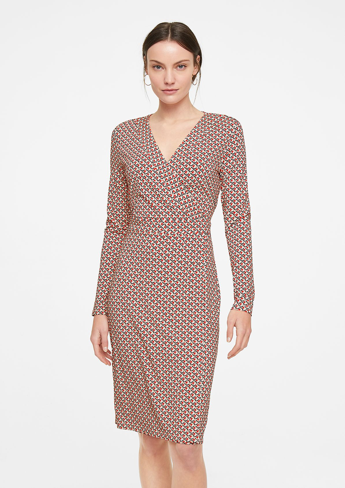 Dress with a cache coeur neckline from comma