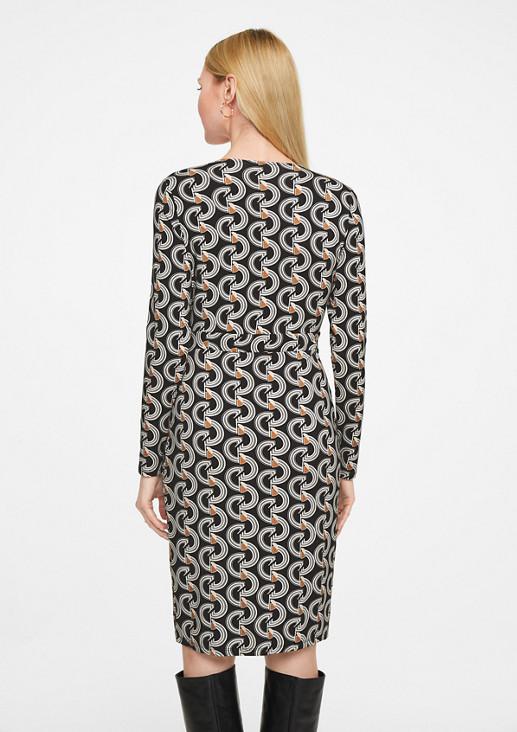 Kleid mit Cache-Coeur-Ausschnitt