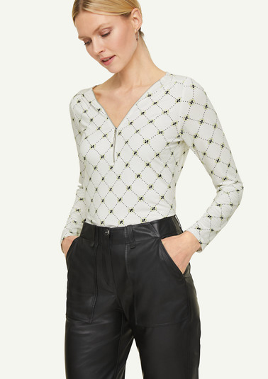 Shirt mit Reißverschluss-Detail