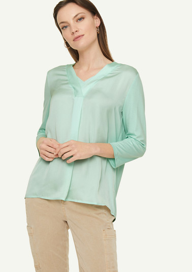 Blouse top in a mix of materials from comma