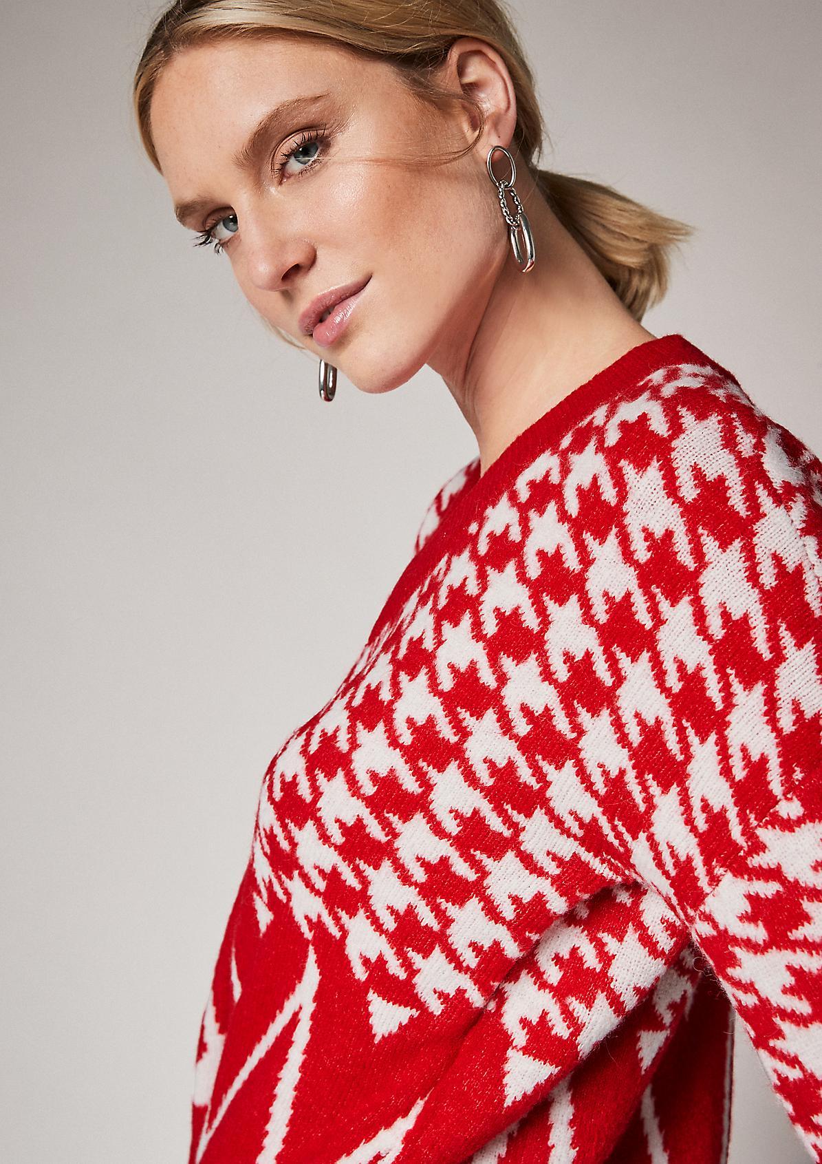 Strickpullover mit Jacquard-Muster