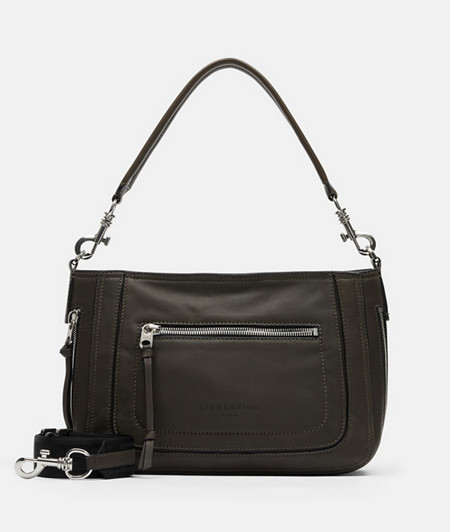 Leather shoulder bag with a natural grain from liebeskind