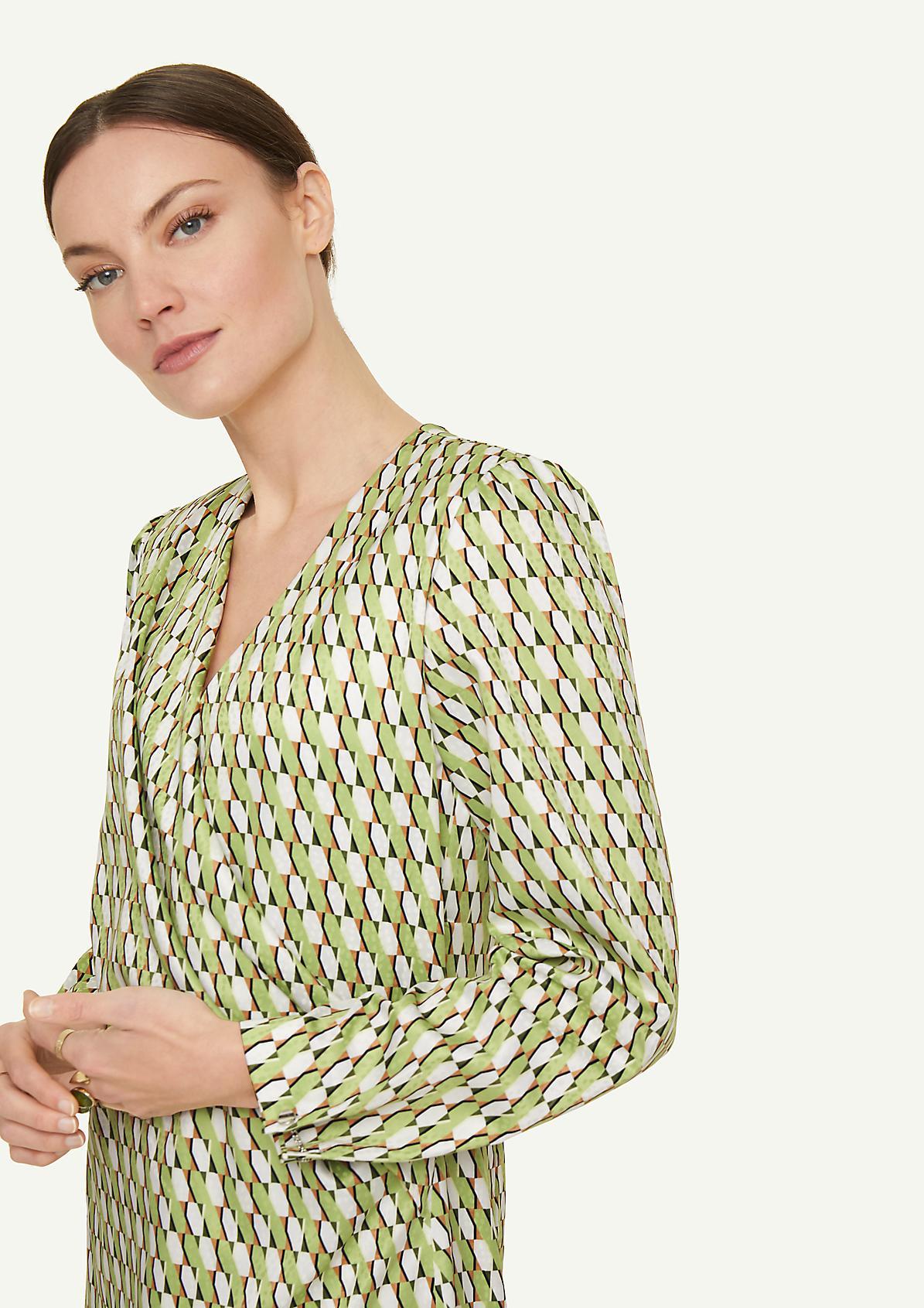 Kleid mit modischem Allover-Print