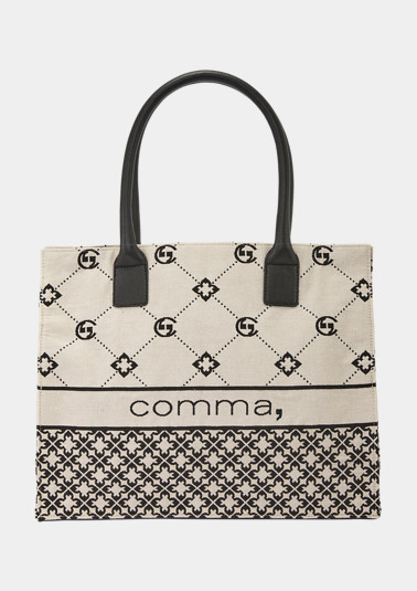 Shopper with a woven pattern from comma